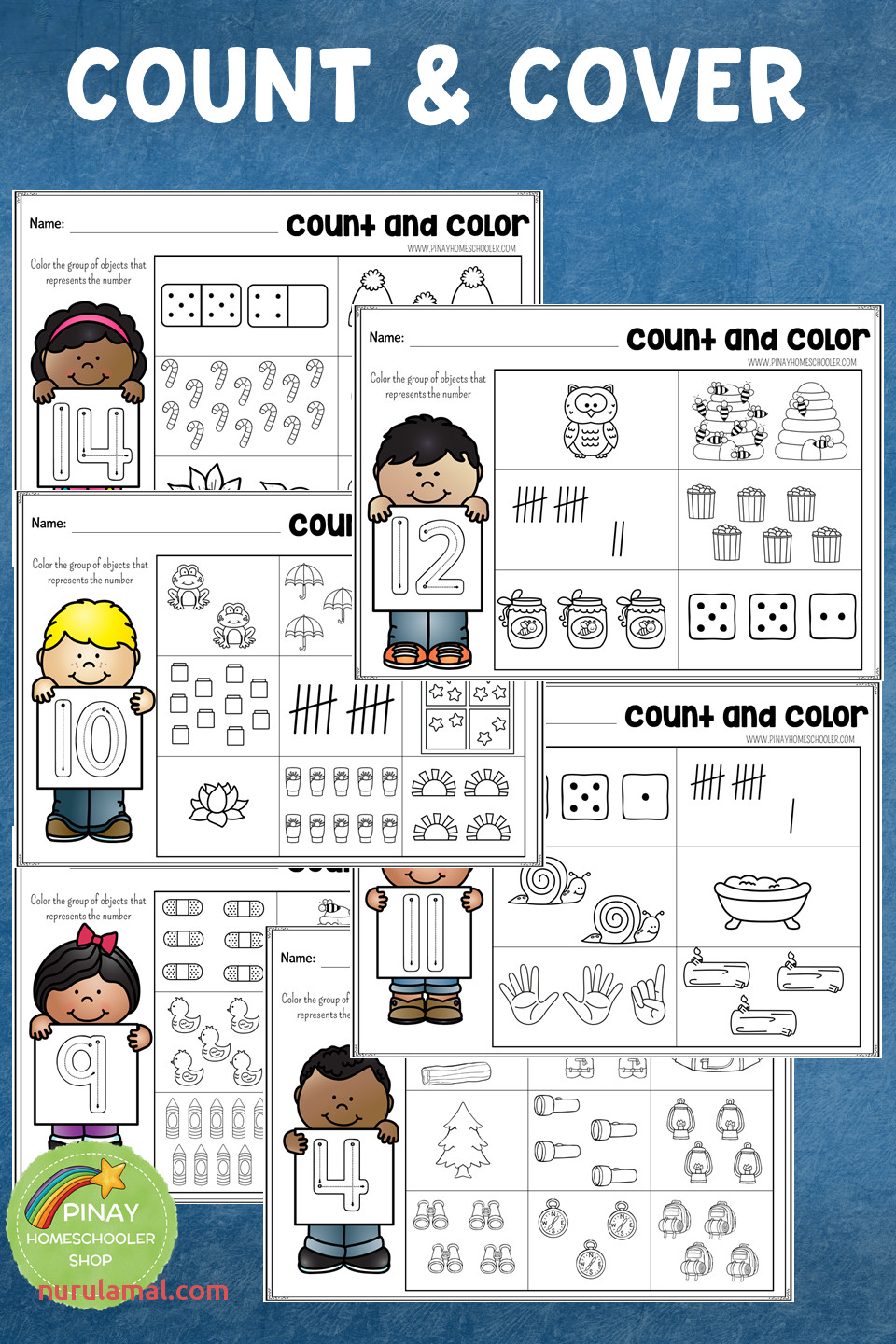 1 20 Count and Color Learning Activity