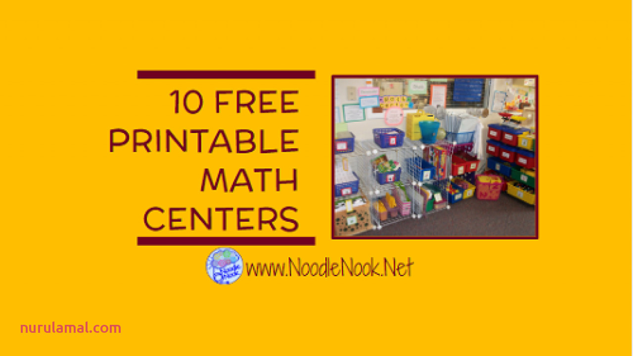 10 Free Printable Math Centers for ALL Students Tips for Differentiation too