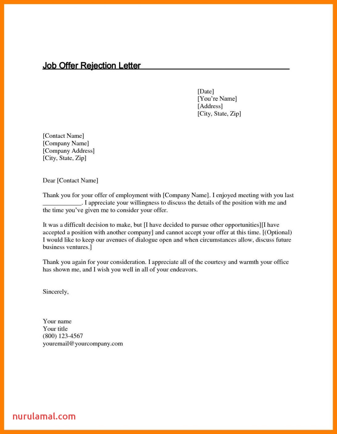 12 accepting job offer email sample time table chart letter 1092x1405