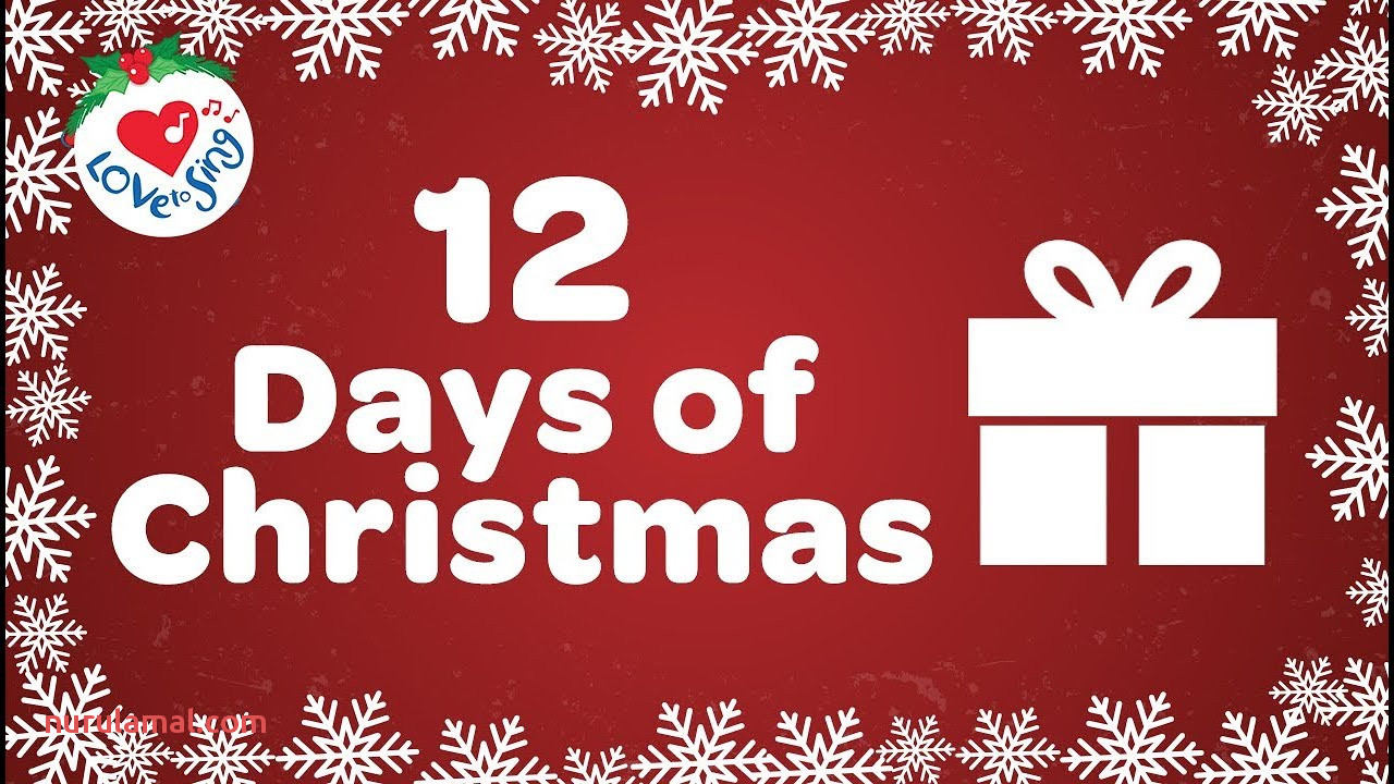 12 Days Of Christmas with Lyrics