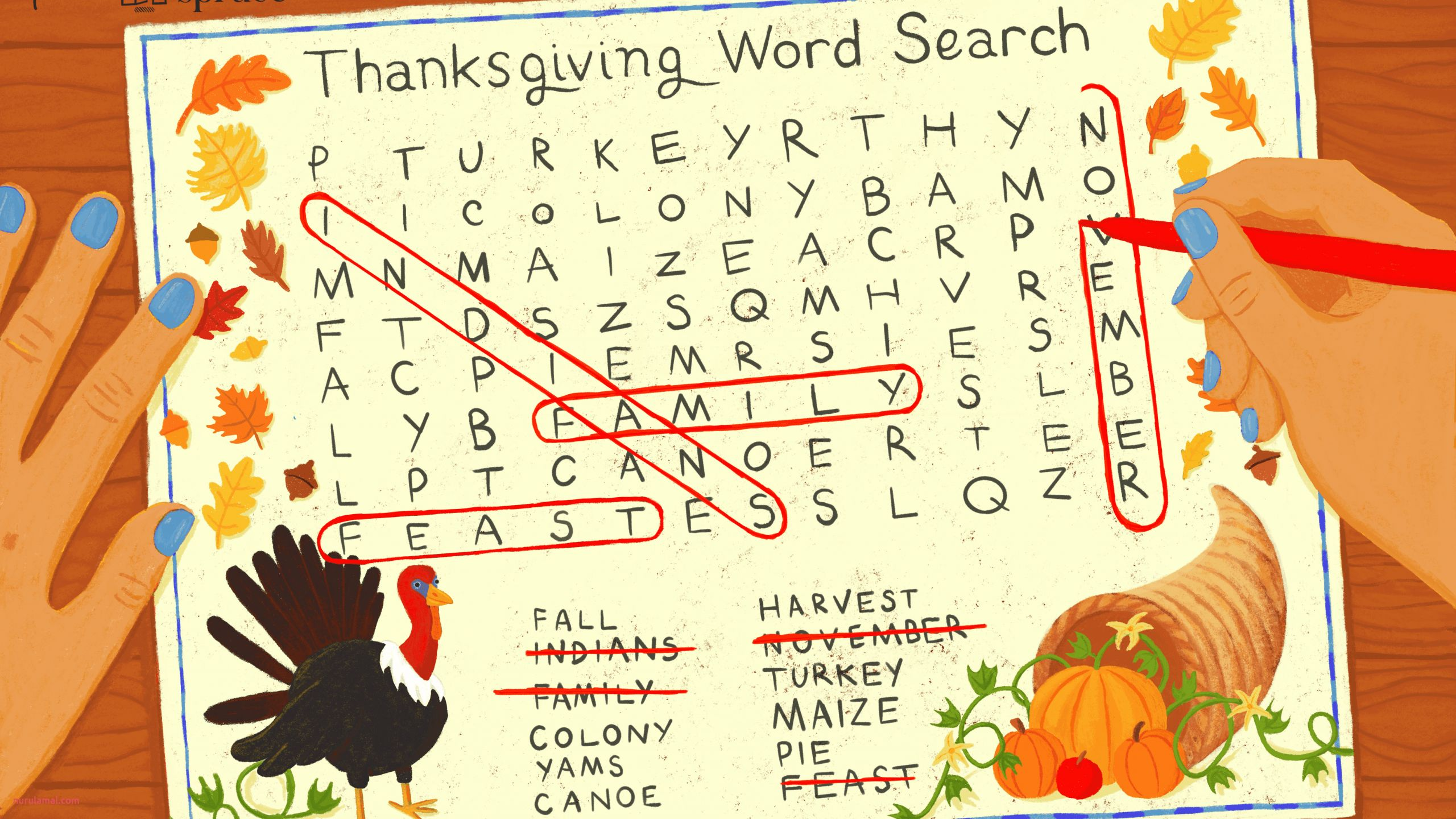 17 Free Thanksgiving Word Search Puzzles for All Ages