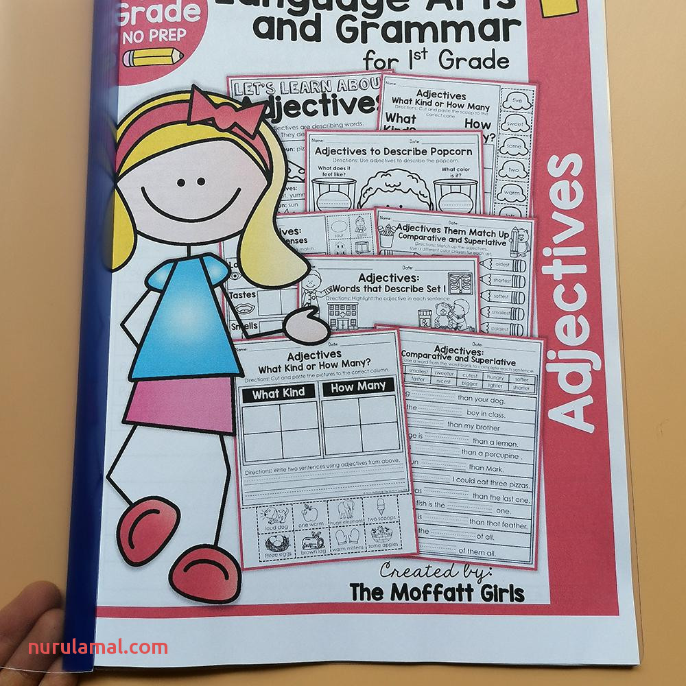 1st Grade Language Arts and Grammar Practice Workbooks Sentence Interactive Passages Worksheet Early Learning Activities Educational Teach Aids