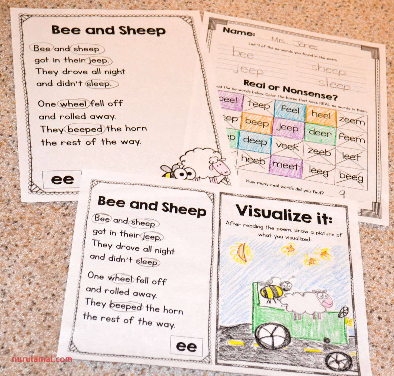 1st Grade Poetry Worksheets