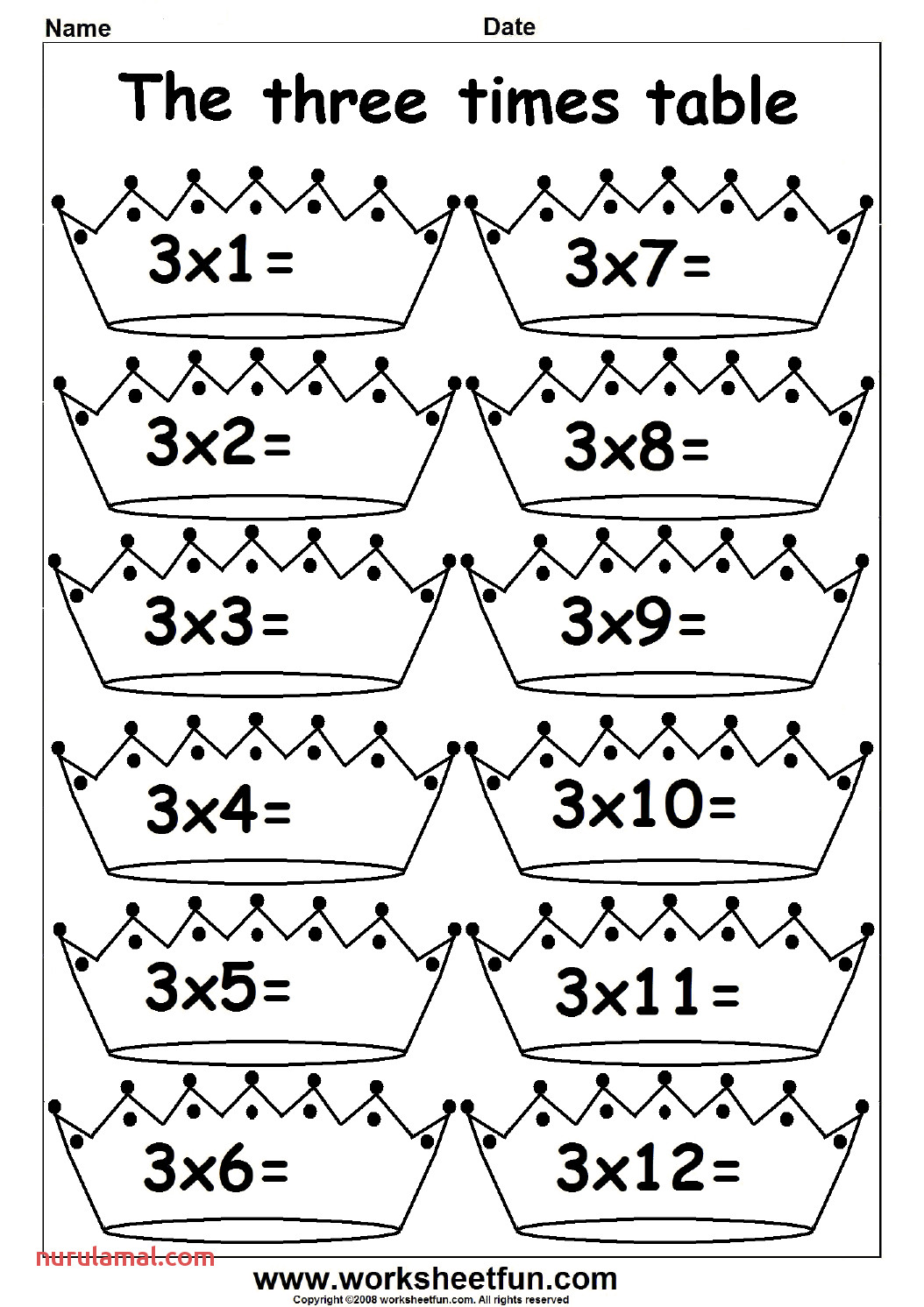 2 3 4 5 6 7 8 9 10 11 and 12 Times Table Fun