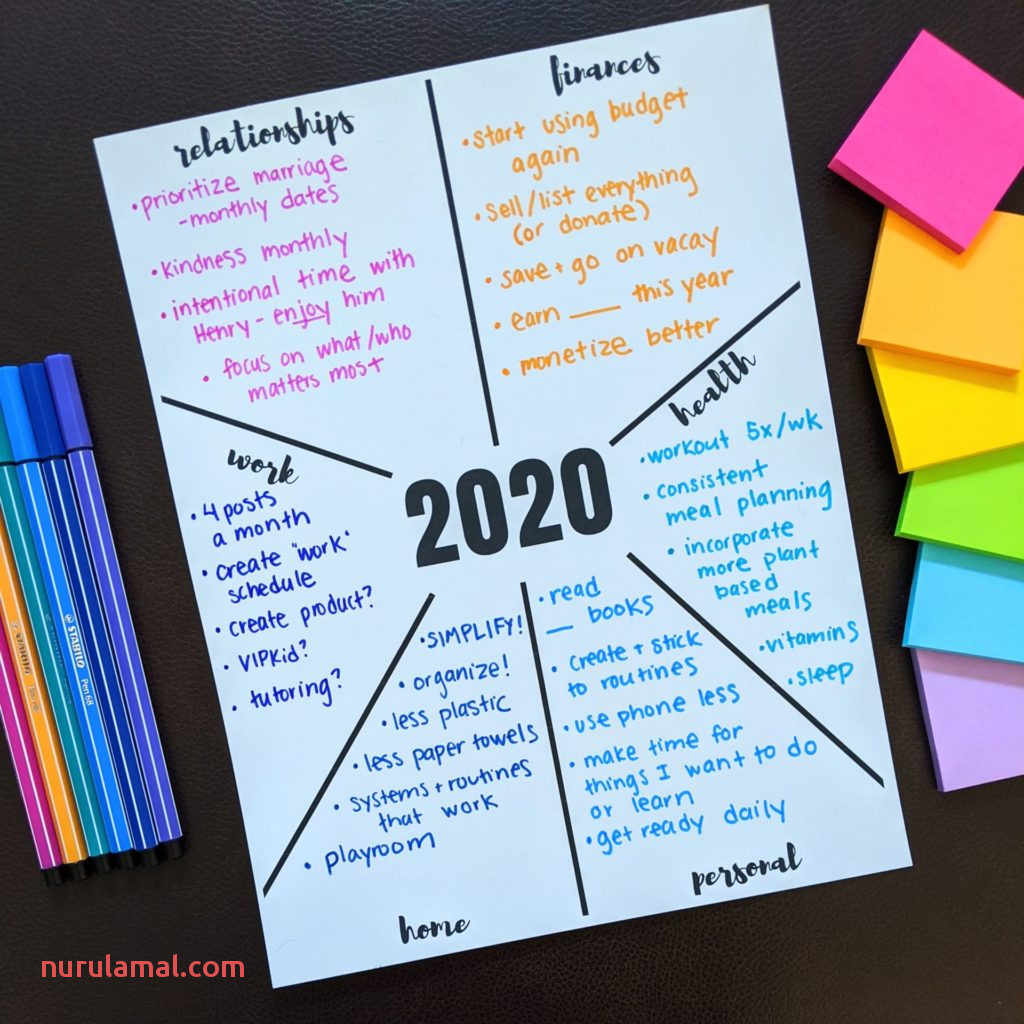 2020 New Year S Goals Printables – Let S Live and Learn