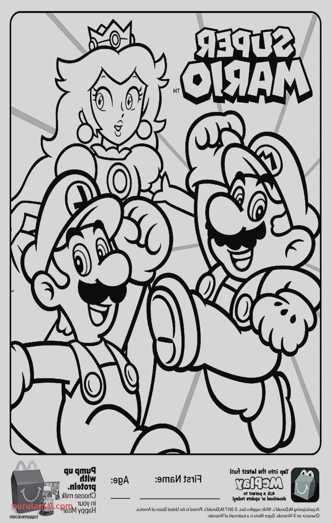 27 Beautiful Graphy Mario Coloring Page to Print