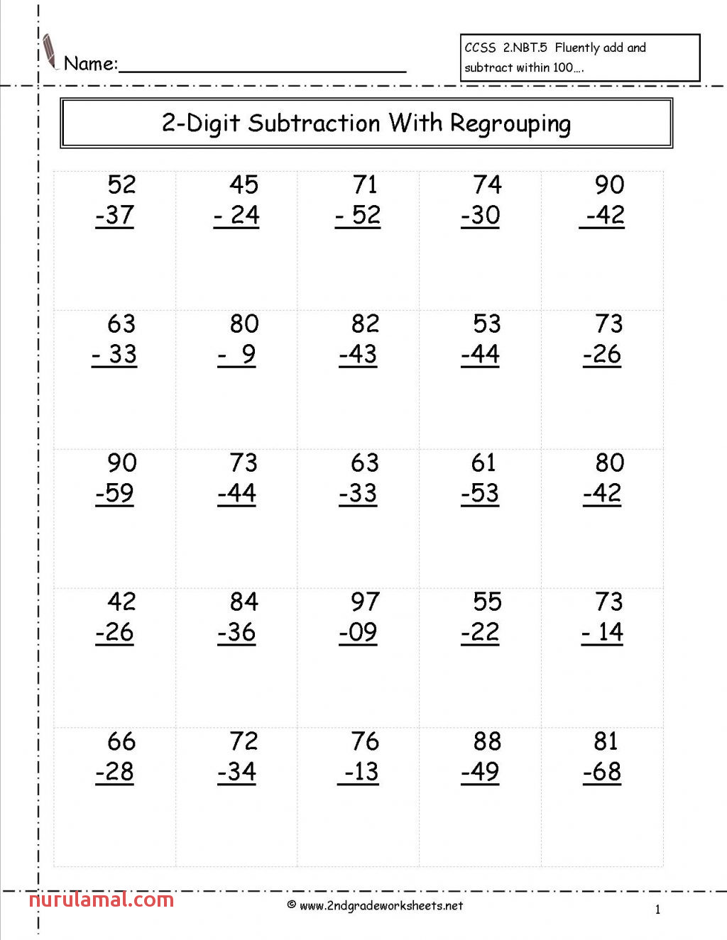 2th Grade Worksheets Free Th and Printouts Word Problems 2nd