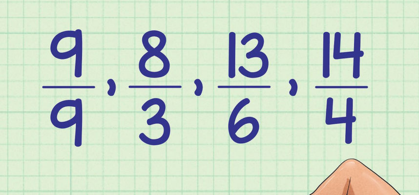 3 Ways to order Fractions From Least to Greatest Wikihow