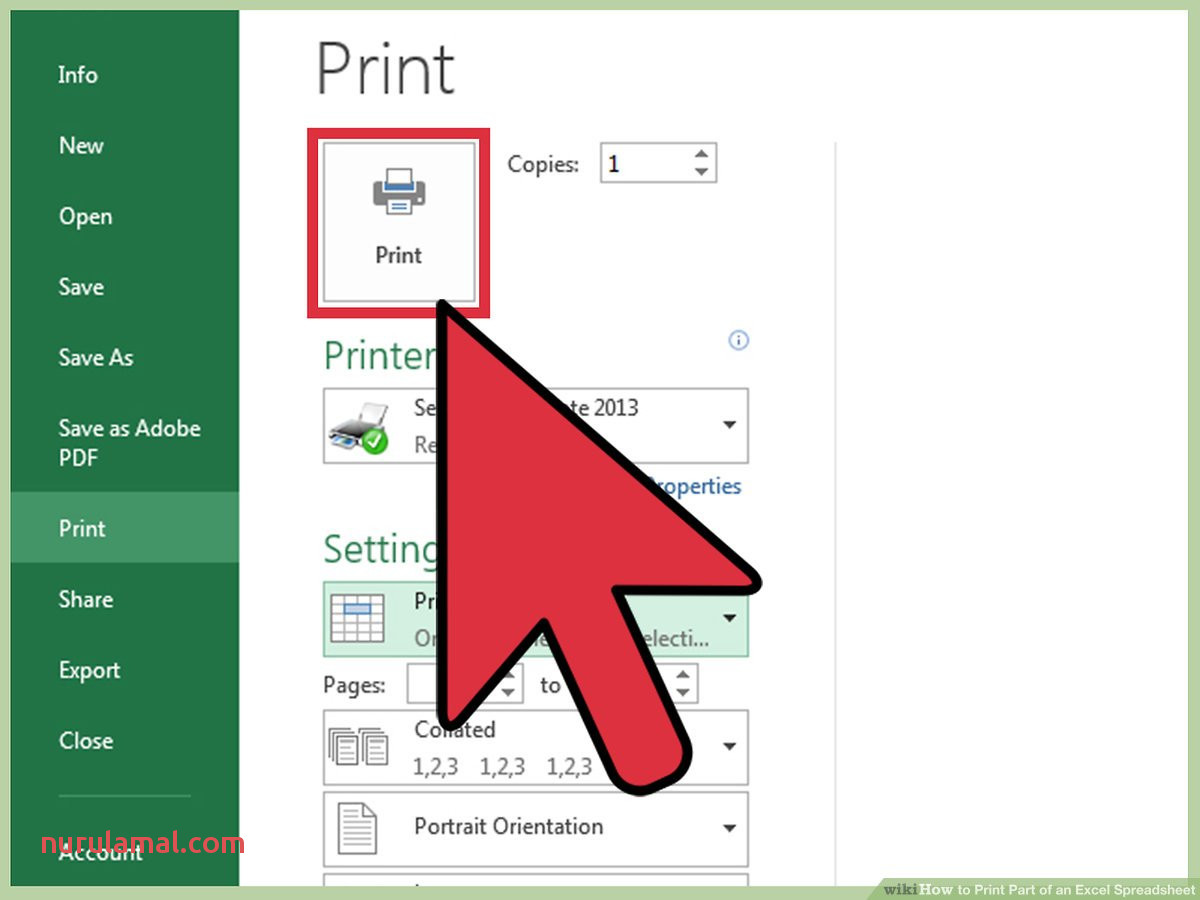 3 Ways to Print Part Of An Excel Spreadsheet Wikihow