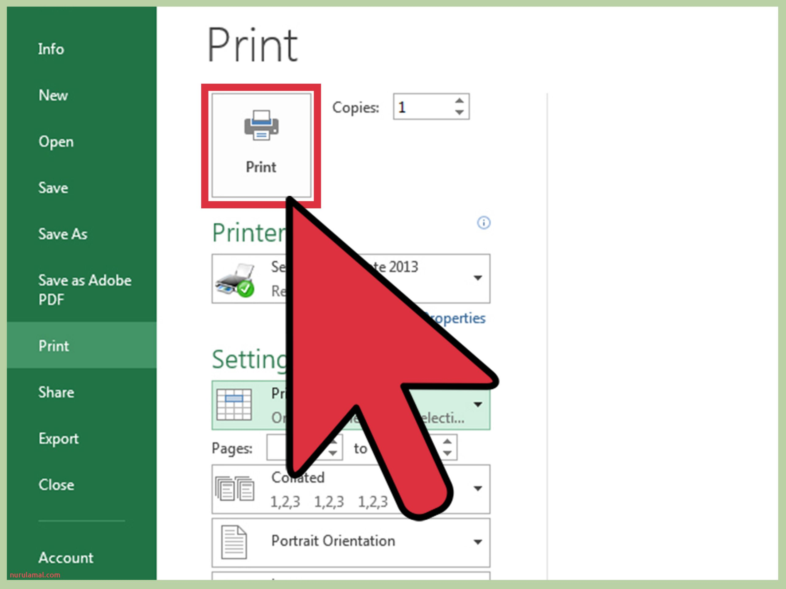 Print Part of an Excel Spreadsheet Step 18