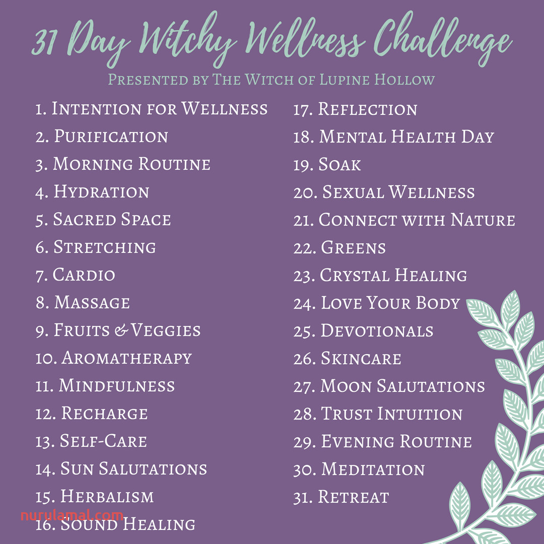 31 Day Witchy Wellness Challenge