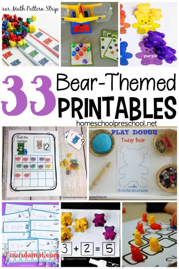 33 Free Preschool and Kindergarten Bear Printables