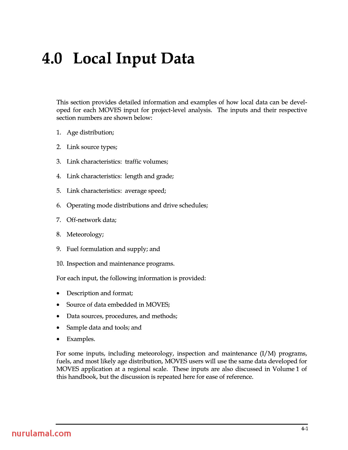 4 0 Local Input Data