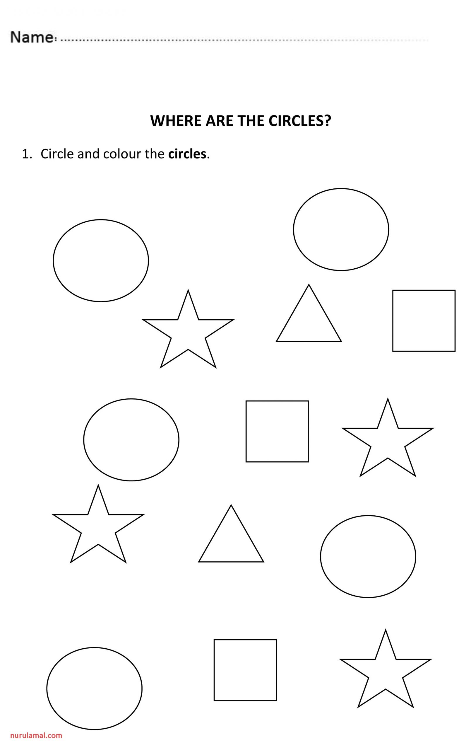 4 Pages Of Fun and Easy Worksheets to Teach the Shapes the