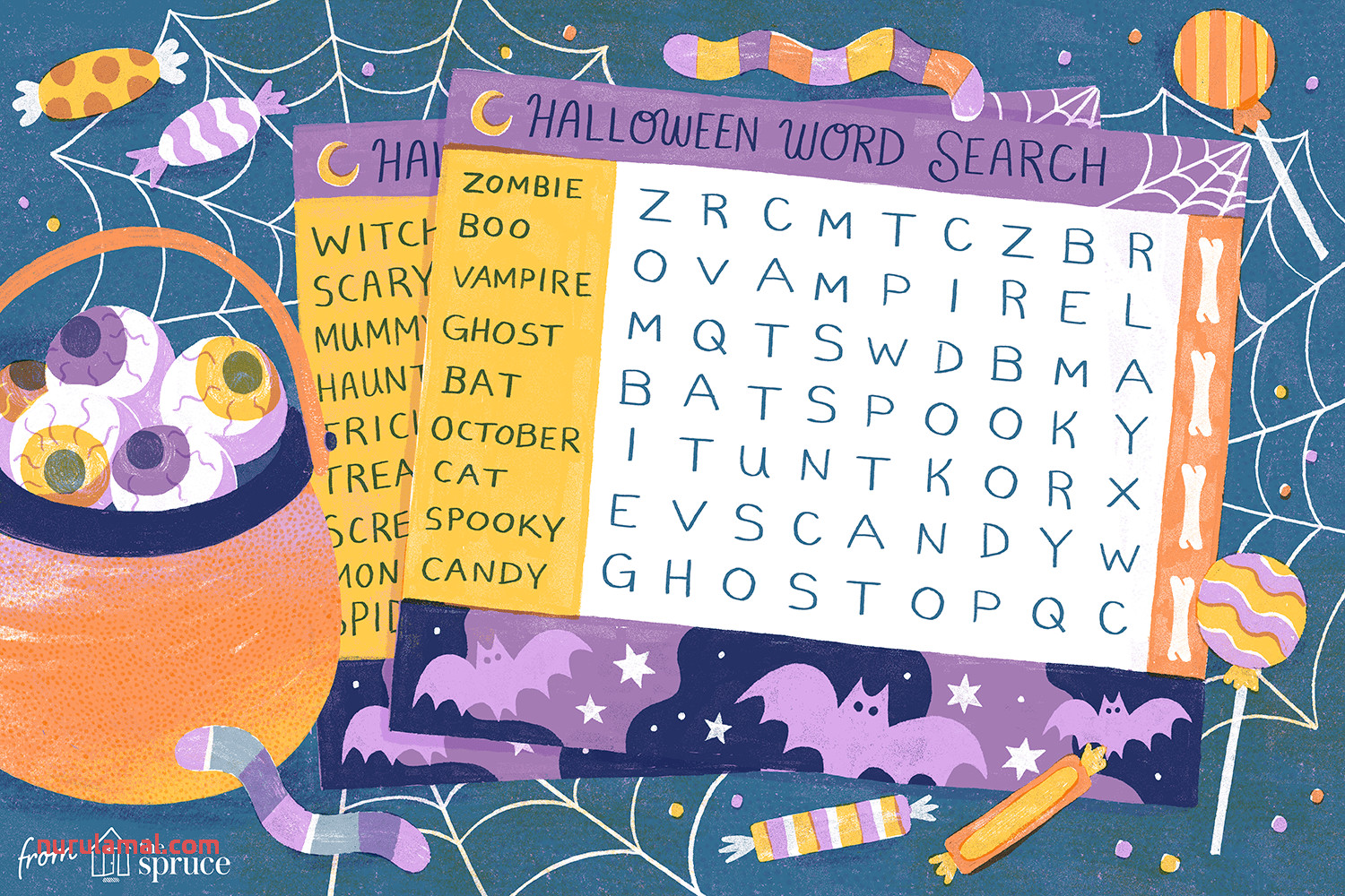 41 Free Halloween Word Search Puzzles