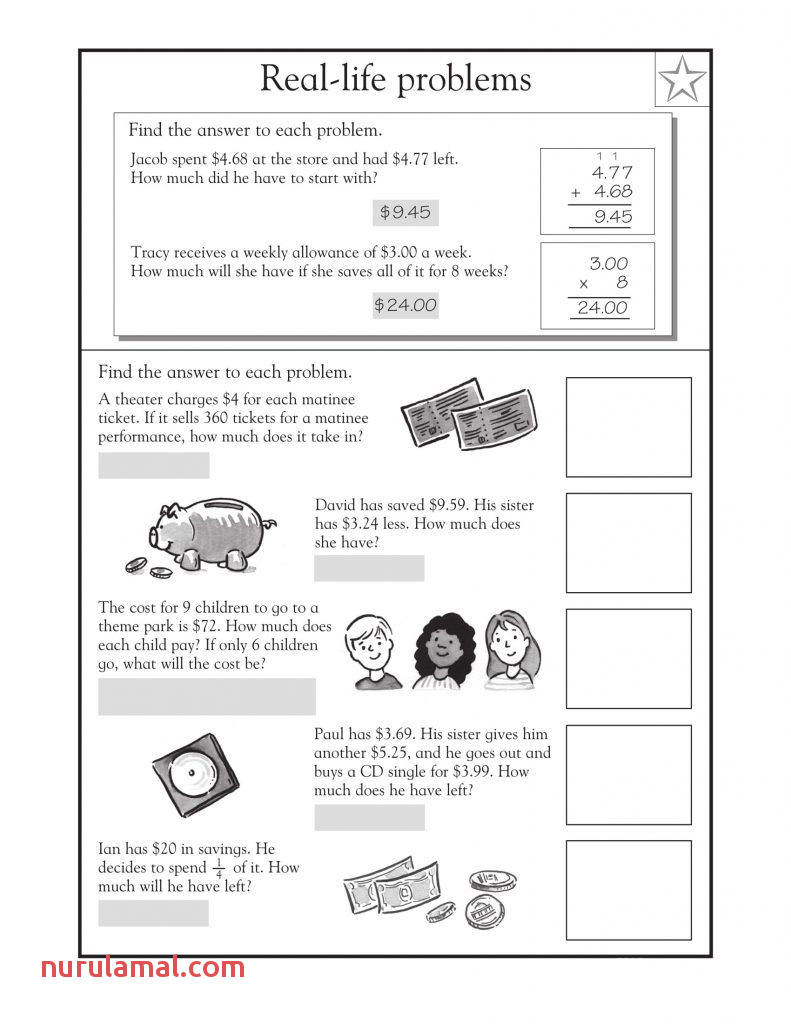 4th Grade Math Word Problems