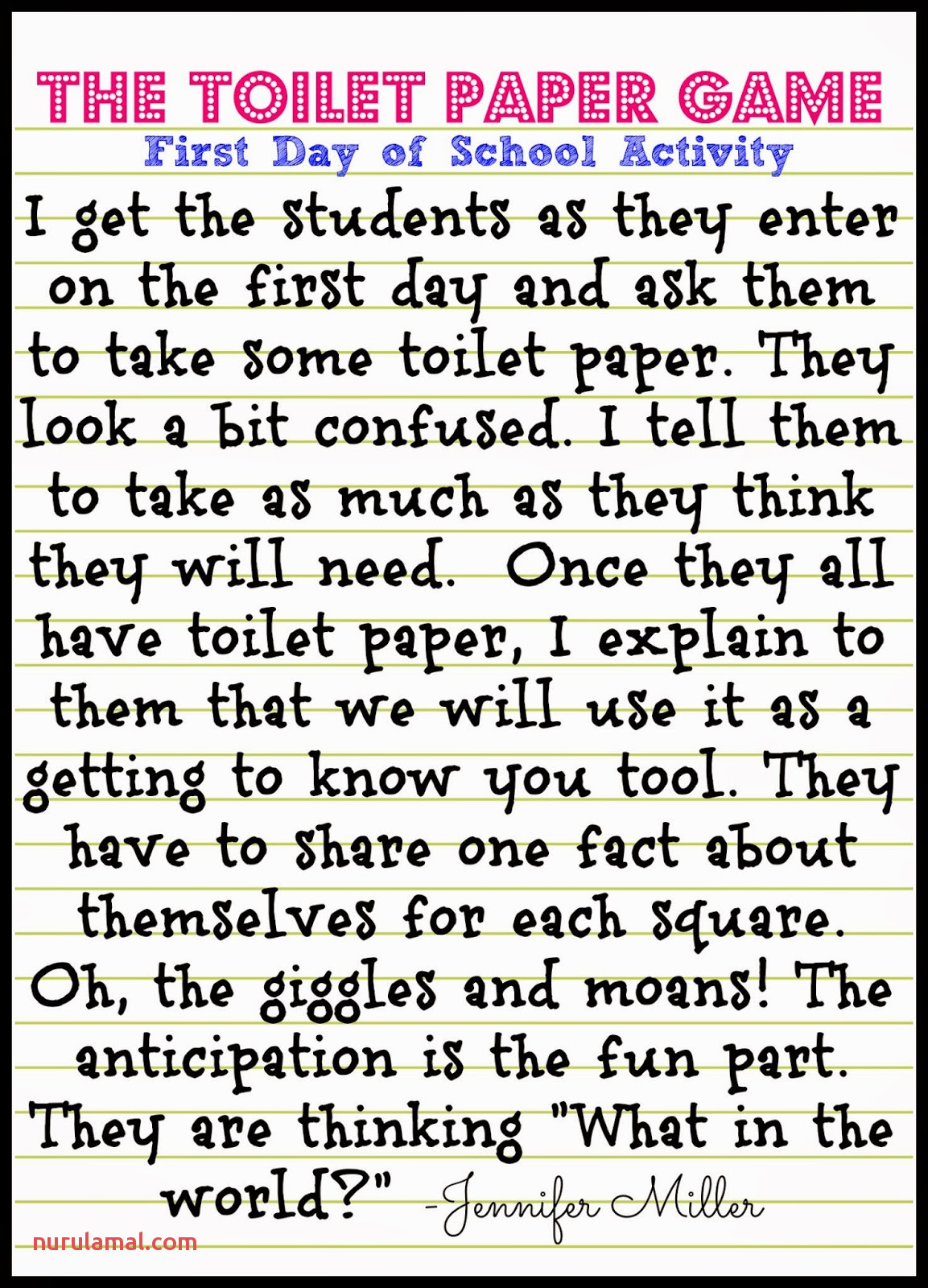 Toilet Paper Game