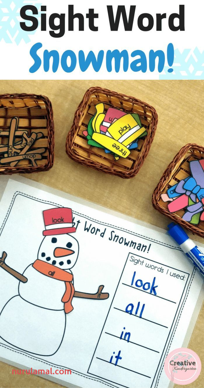 85 Best Snowman Sight Word Activities Images In 2020