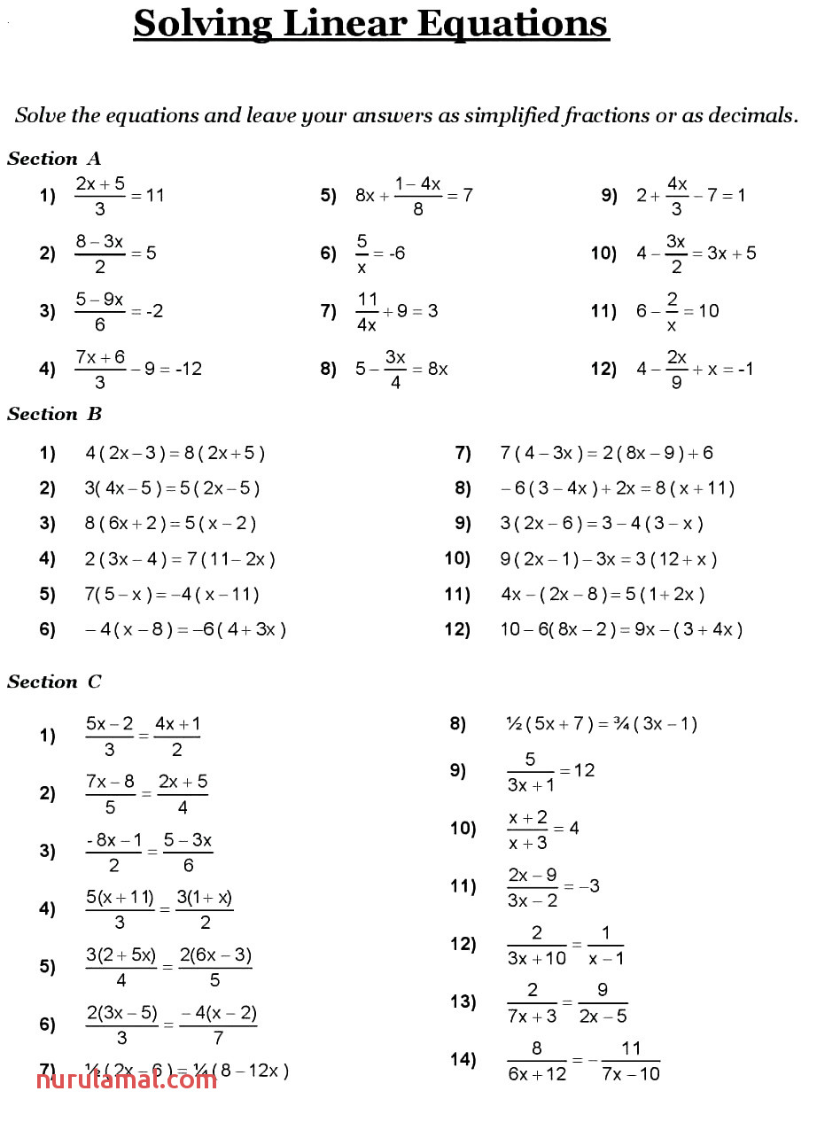 8th Grade Math Worksheets for Practice