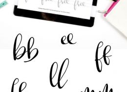 9 Free Hand Lettering Practice Sheets – Tip Junkie