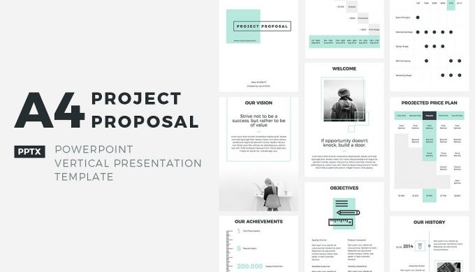 A Project Proposal Powerpoint Presentation Templates