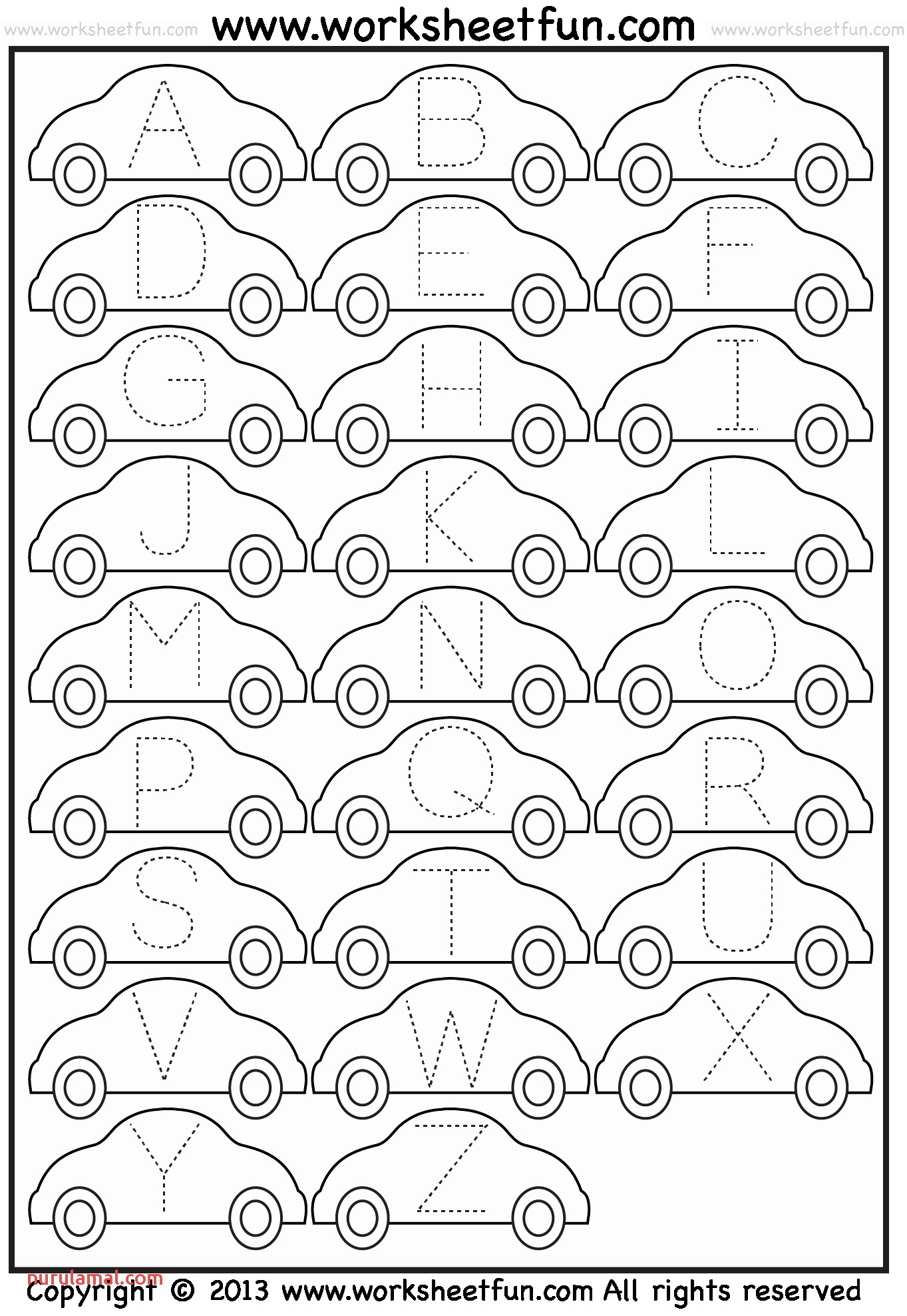 abc printables and letter tracing worksheet car free printable worksheets or abc printables