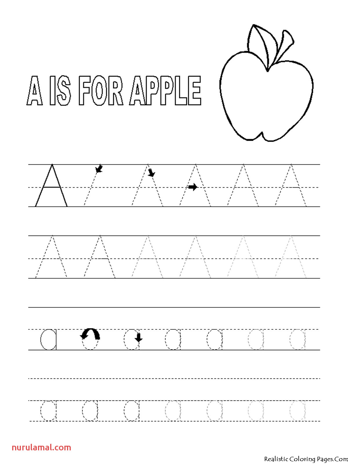 Alphabet Coloring Pages Tracing