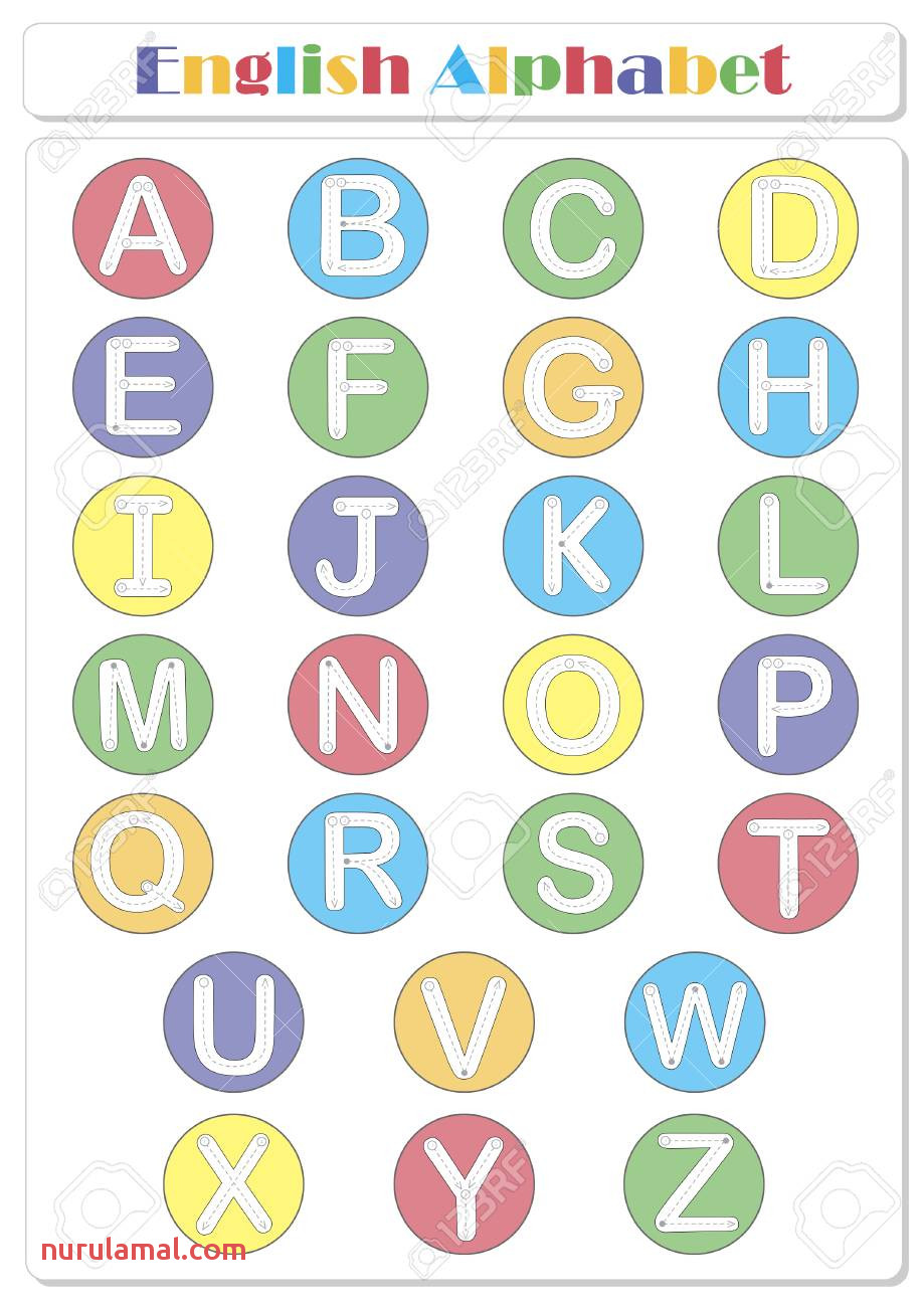 Alphabet Tracing Worksheet Writing A Z Coloring Book and Educational