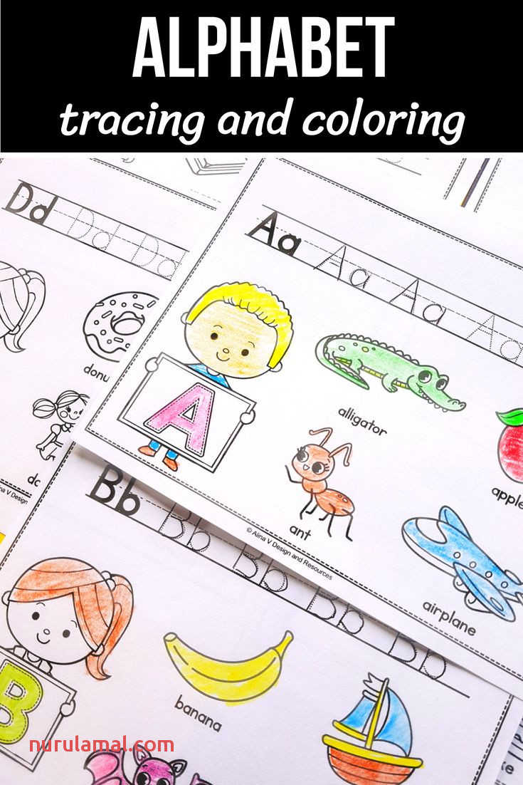 Alphabet Tracing Worksheets Alphabet Coloring Page