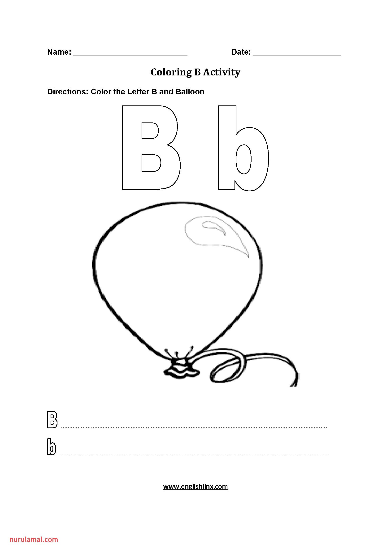 Coloring B Worksheet
