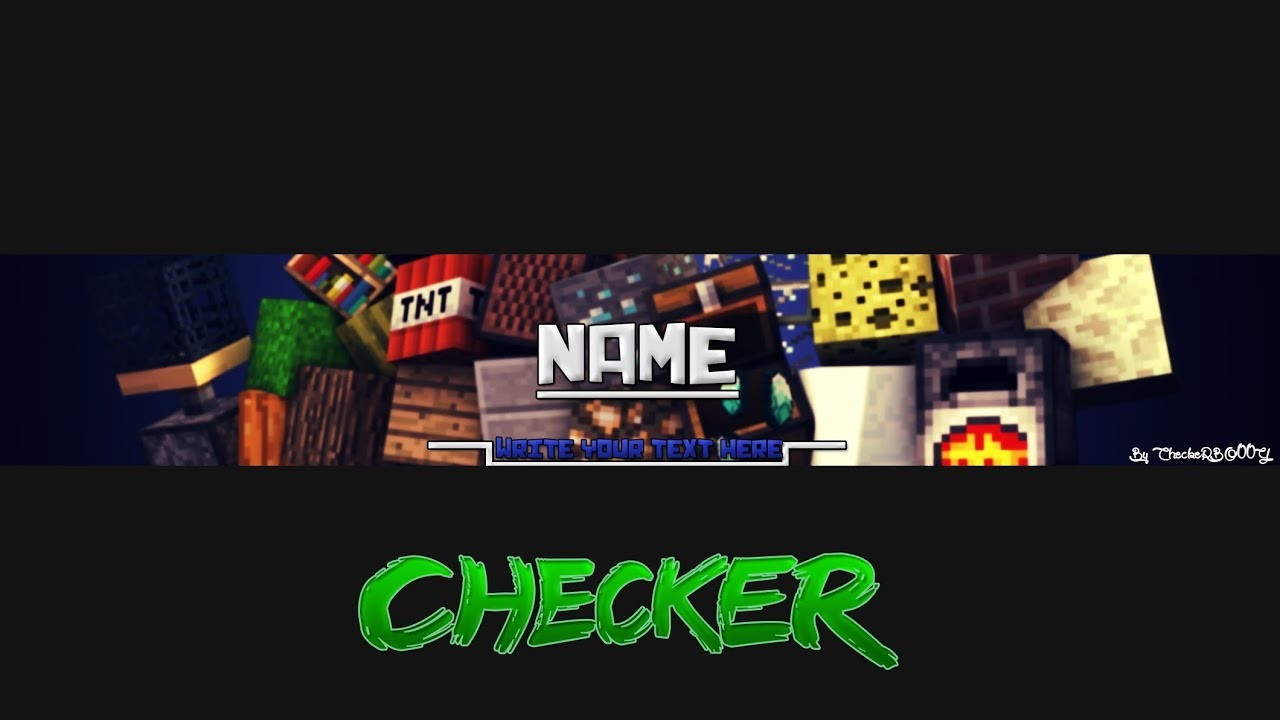 Amazing Minecraft Banner Template For Photoshop Fr Youtube