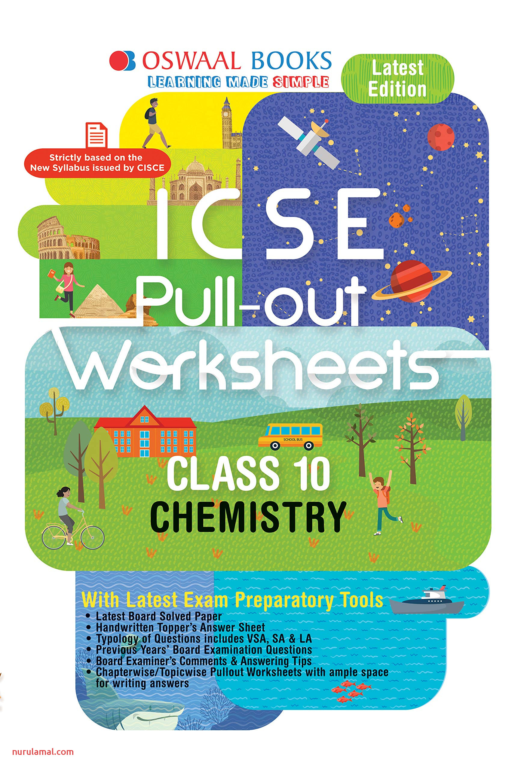 Amazon Buy Oswaal Icse Pullout Worksheet Class 10