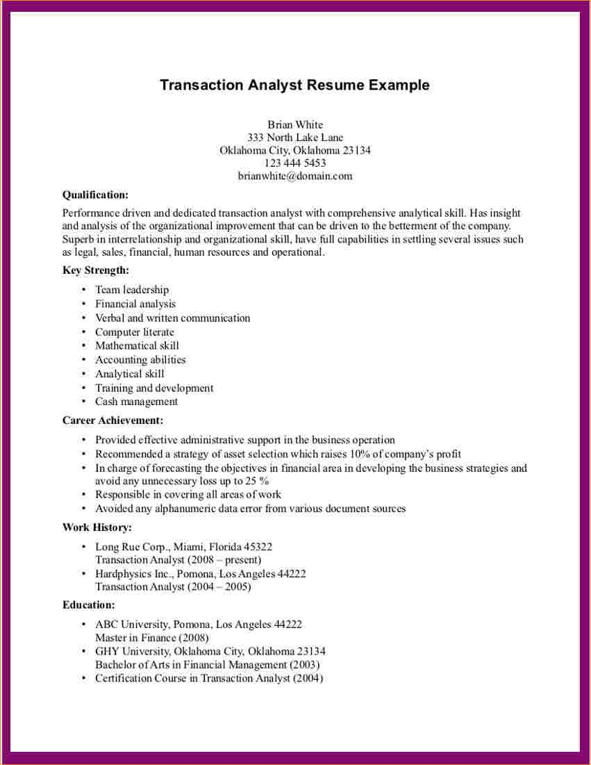 Any Job Resumes Samples Business Proposal Templated