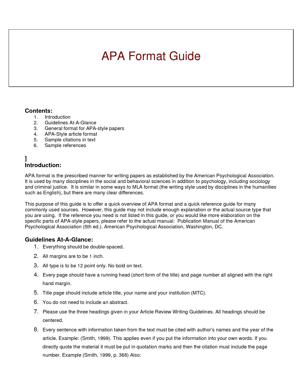 Apa Formatting Example The Snohomish Times