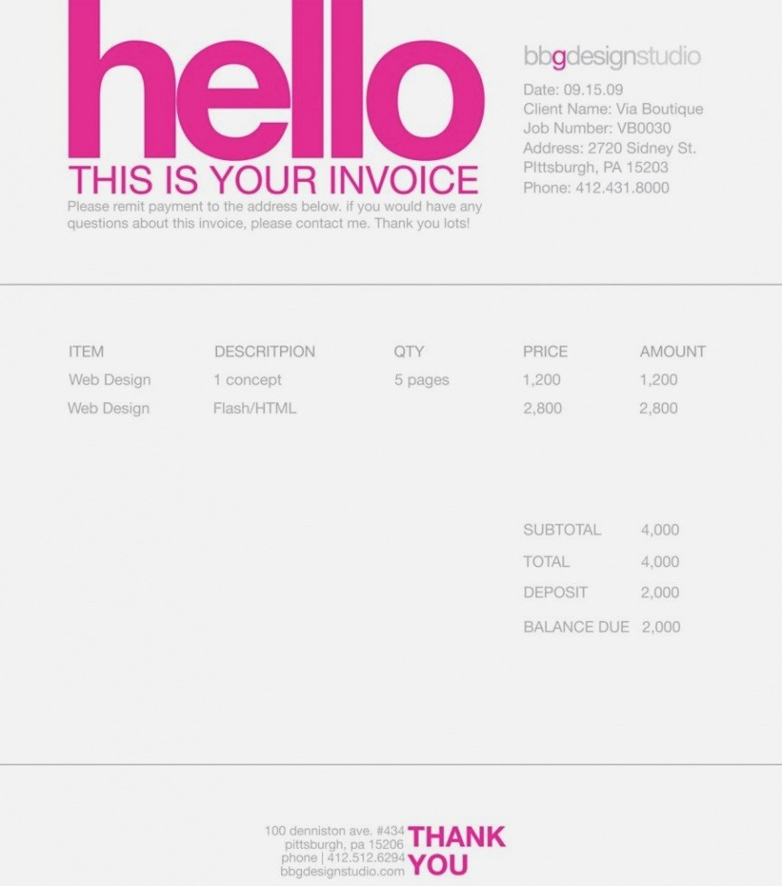 Artist Invoice Template Free Understand The Background Of