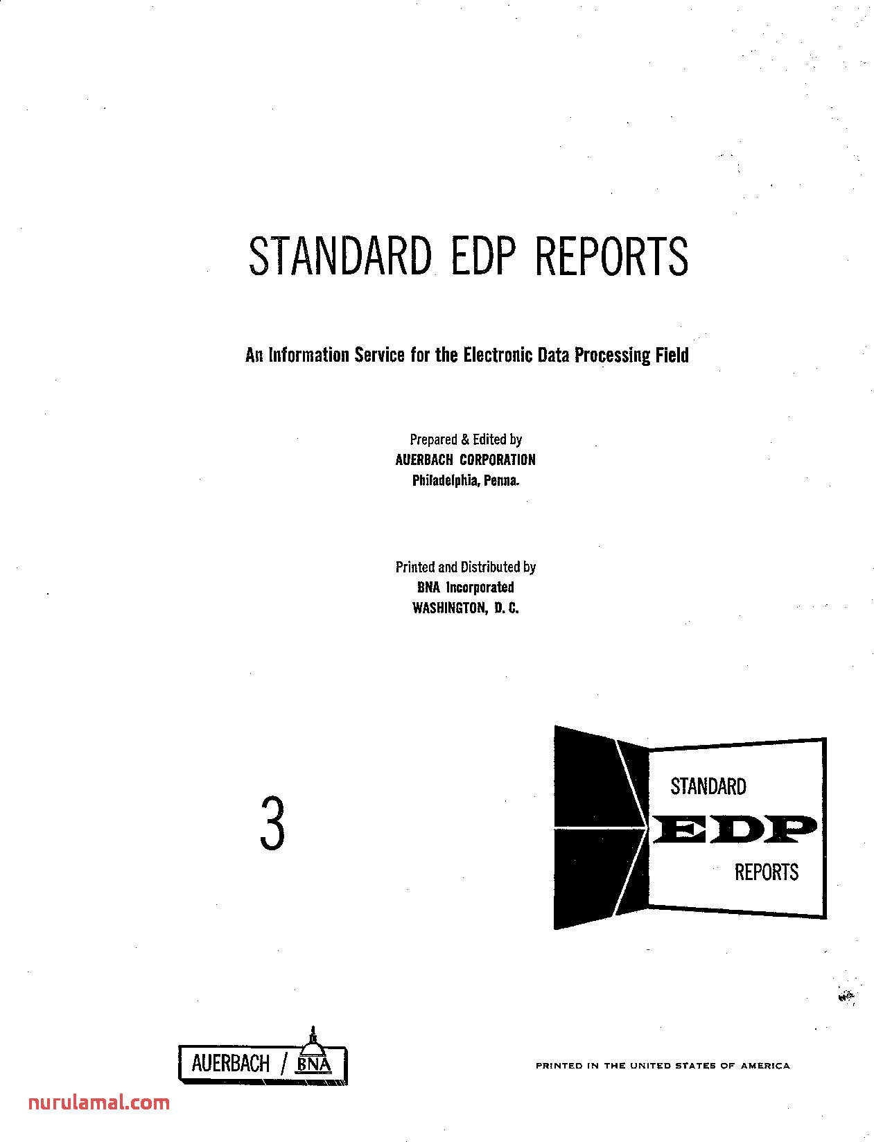 Auerbach Standard Edp Reports Volume 3 Ge