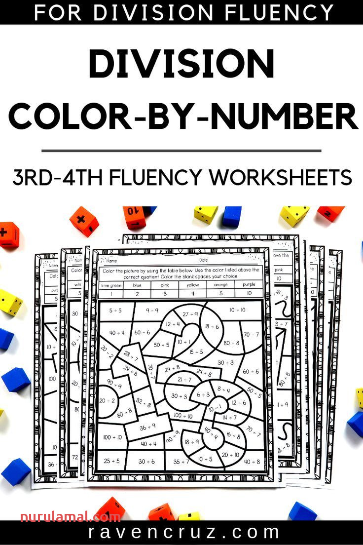 Back to School Math Division Color by Number