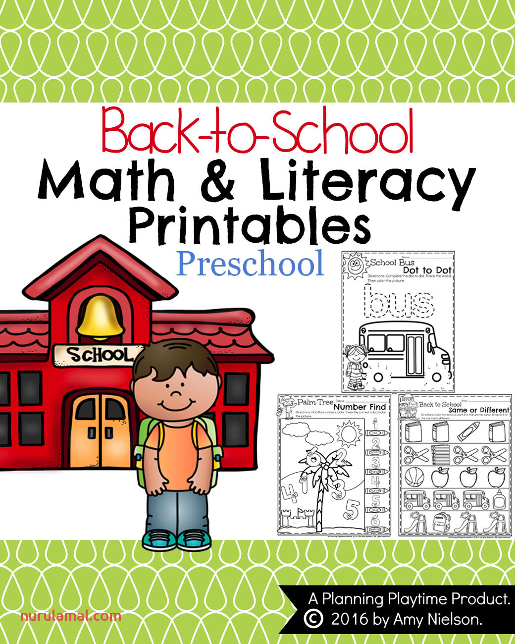 Back to School Preschool Worksheets Planning Playtime