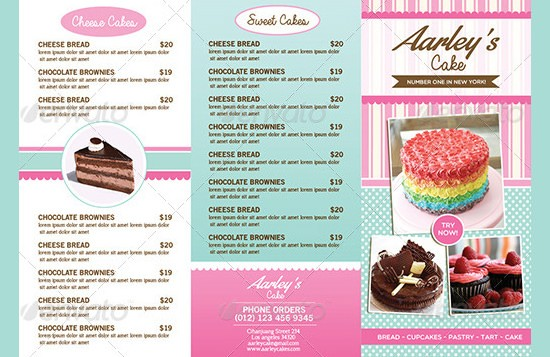 Bakery Menu Template Signs You Re In Love With Bakery