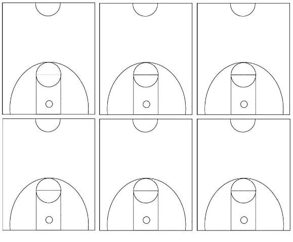 graphic relating to Printable Basketball Court Diagram called Basketball Courtroom Diagram Printable Diagram Nurul Amal
