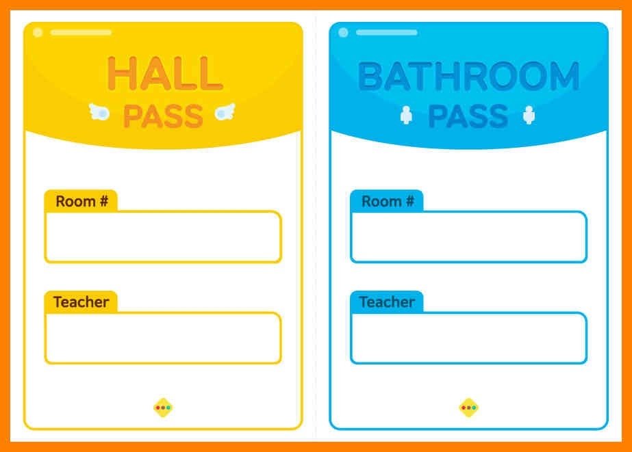 Bathroom Pass Template Stretching And Conditioning