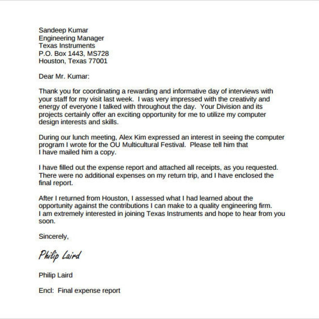 Beautiful Follow Up Letter To Interview How To Format A