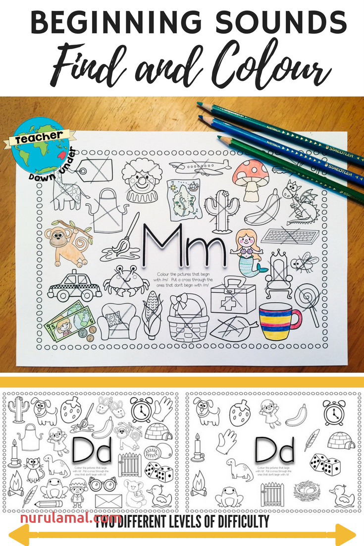 Beginning sounds Find and Colour Educational