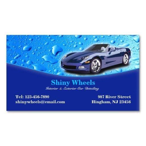 Best Auto Detailing Business Cards Images On Pinterest