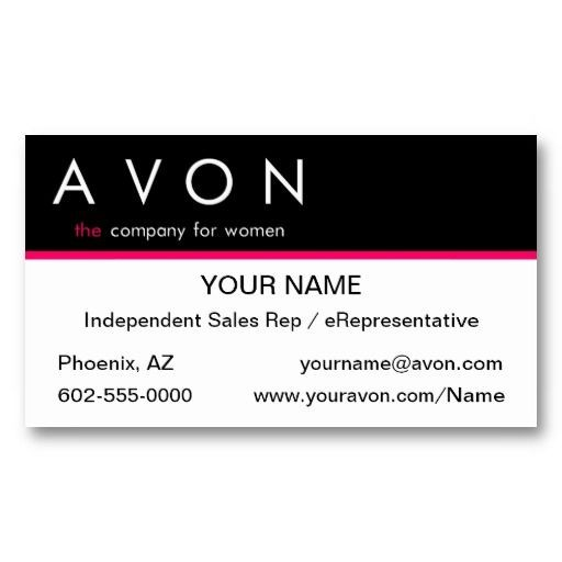 Best Avon Business Cards Templates Images On Pinterest