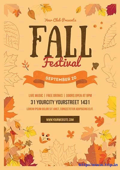 Best Fall Festival Flyer Print Template Frip.in