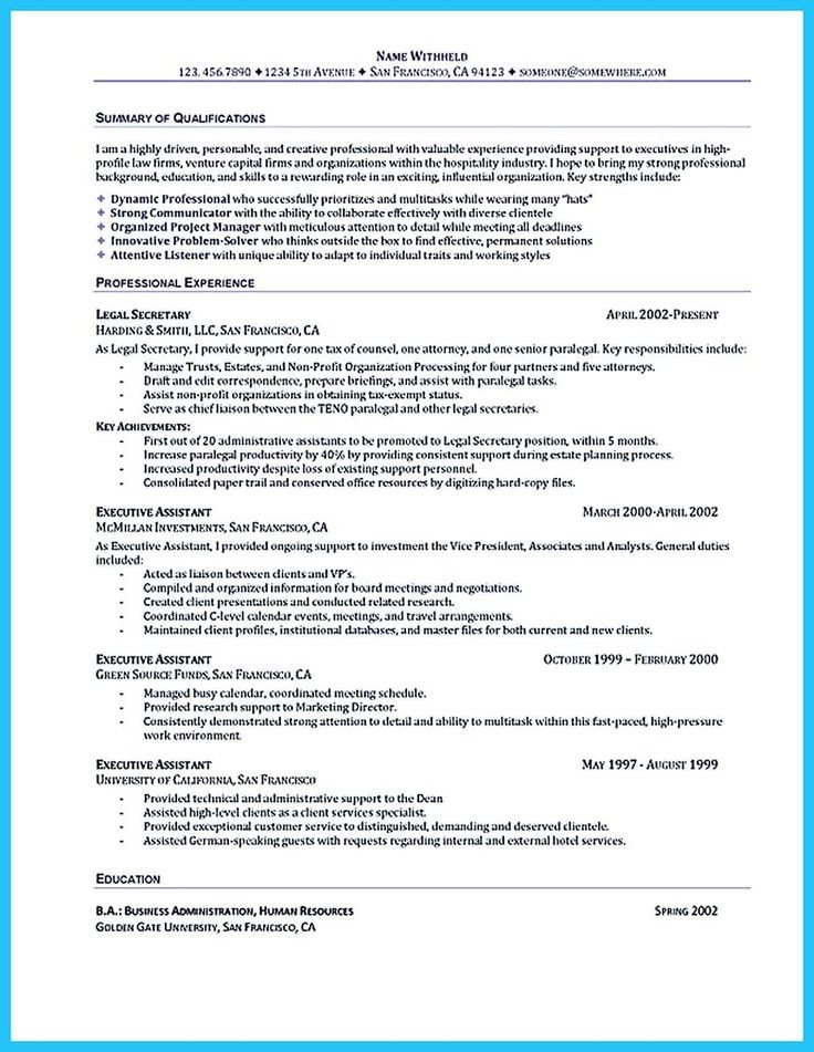 Best Ideas About Administrative Assistant Resume On