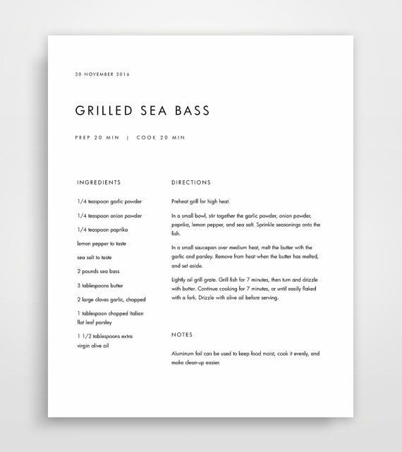 Best Ideas About Recipe Templates On Pinterest