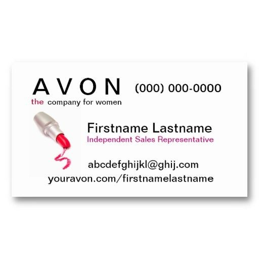 Best Images About Avon Business Cards Templates On
