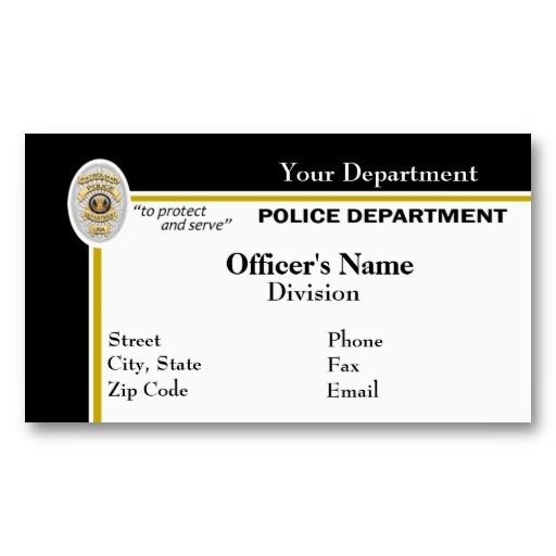 Best Images About Law Enforcement Business Cards On